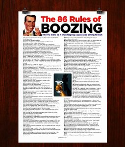 86 Rules Poster