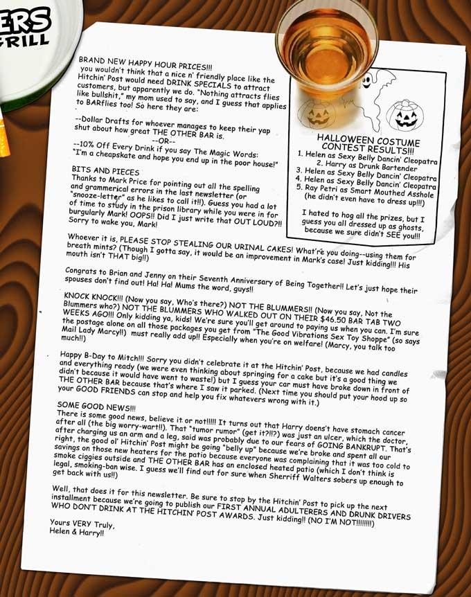 Hard Times At The Hitchin Post Modern Drunkard Magazine