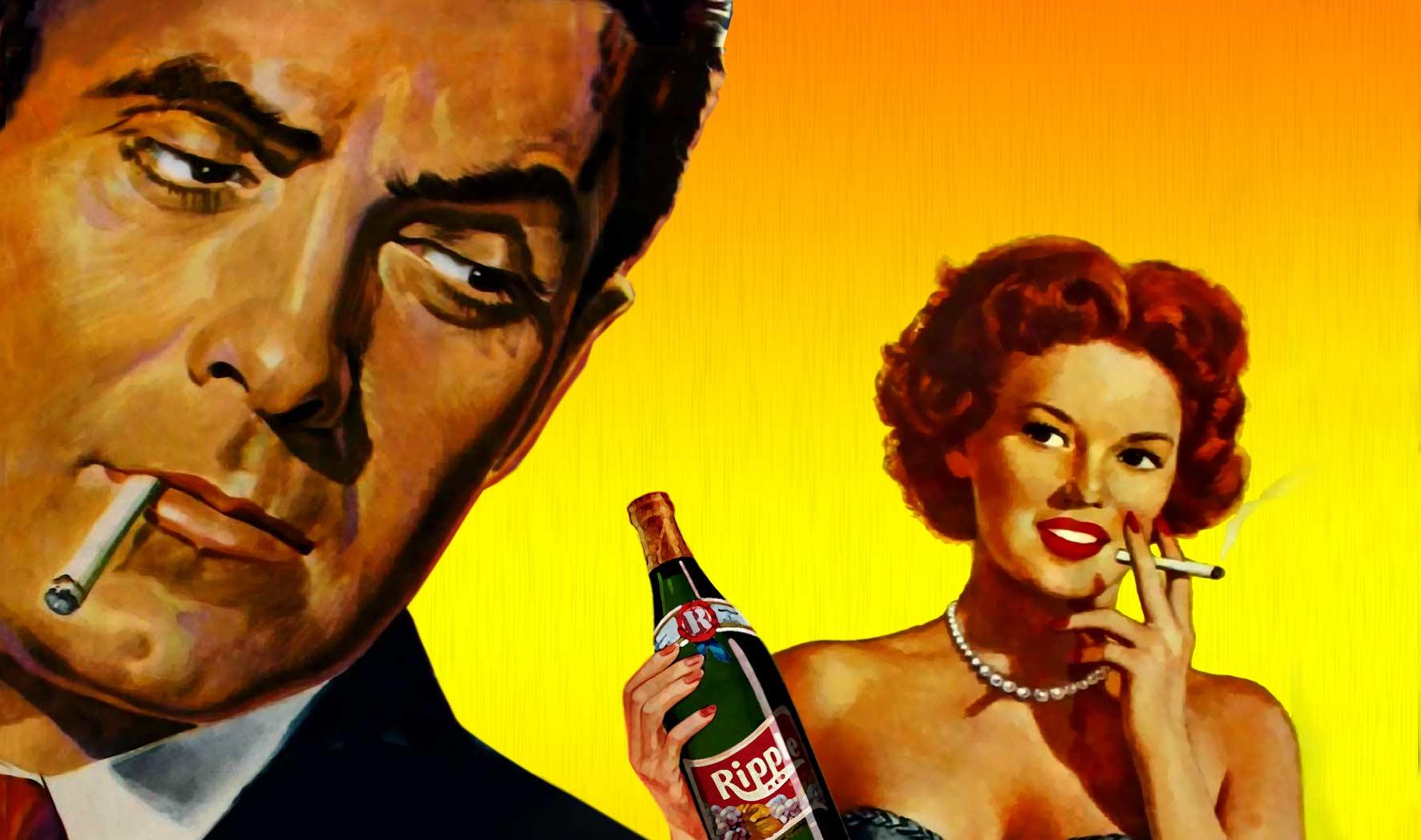 Modern drunkard drinking alone