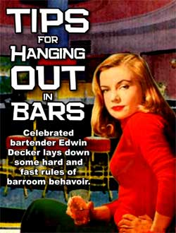 Tips for hanging out in bars